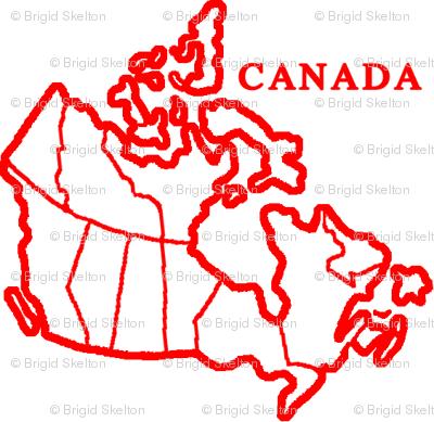 Canada Map: White
