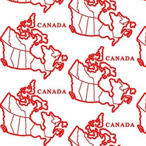 Canada Map: White