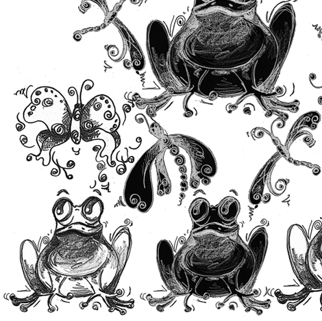 frogs_1 fabric by tat1 on Spoonflower - custom fabric