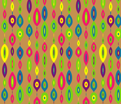 MOD Links: Multi-colored fabric by vanillabeandesigns on Spoonflower - custom fabric