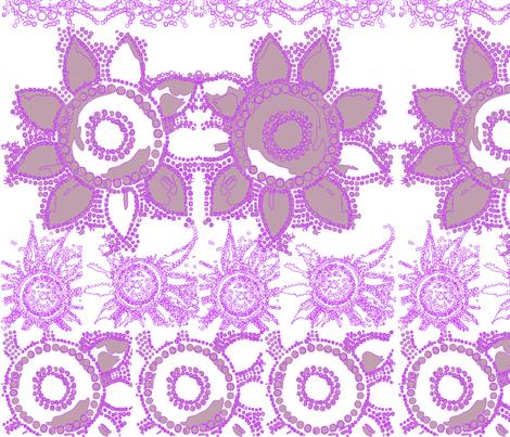 flowerpower_mod_wallpaper_purple fabric by tat1 on Spoonflower - custom fabric