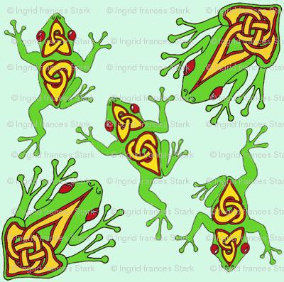 celtic froggy tile 1