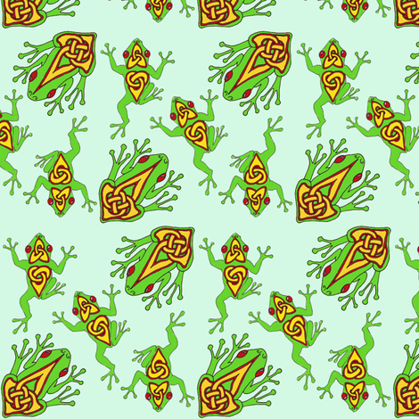 celtic froggy tile 1 fabric by ingridthecrafty on Spoonflower - custom fabric