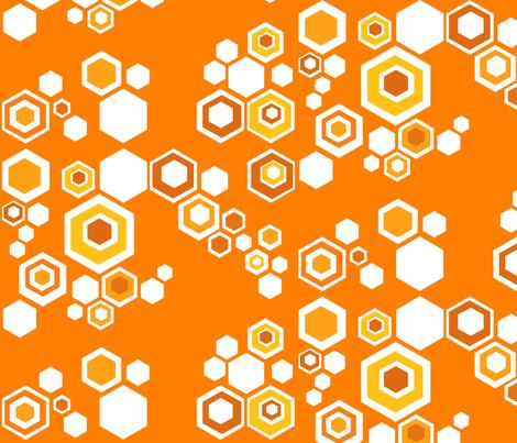 hive - orange blossom fabric by kurtcyr on Spoonflower - custom fabric