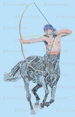 Sagittarius the Centaur Blue