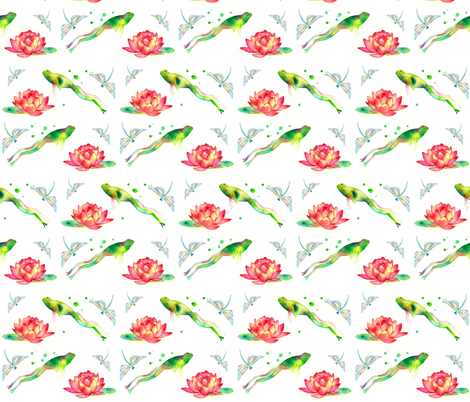 Lily Leap fabric by caitieillustrates on Spoonflower - custom fabric