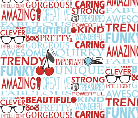 Positivity fabric by smuk on Spoonflower - custom fabric