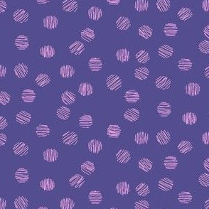 Grape and Orchid Dots Coordinate for Floral Ikat