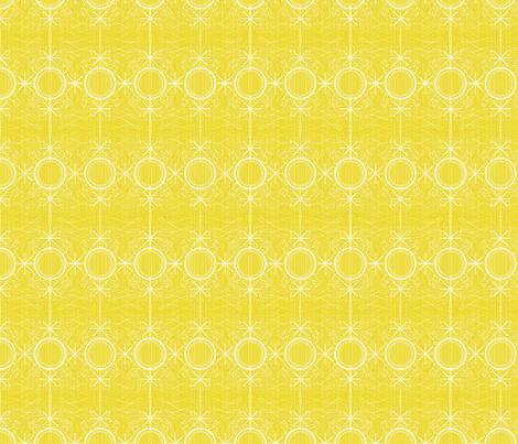 Fancy mustard atomic stars fabric by seabluestudio on Spoonflower - custom fabric