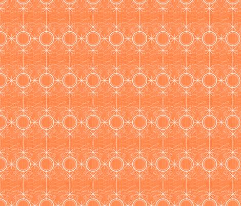 Fancy Orange atomic star fabric by seabluestudio on Spoonflower - custom fabric