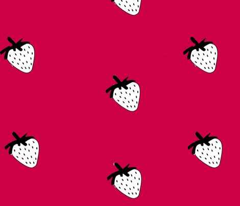 strawberry shake fabric by nomadseamstress on Spoonflower - custom fabric