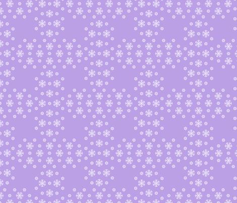 Purple Snowflake Weave  ©2013 by Jane Walker fabric by artbyjanewalker on Spoonflower - custom fabric