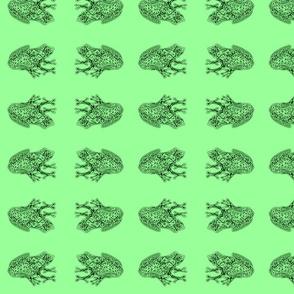 FroggyWentA-Courtin' - med - deep fir & mint green
