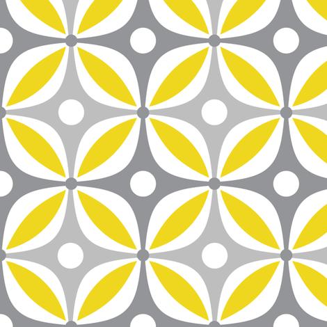 Lemon Peels - Mod Wallpaper - Three Color fabric by run_quiltgirl_run on Spoonflower - custom fabric