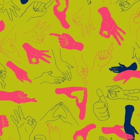 Lend a hand fabric by candyjoyce on Spoonflower - custom fabric