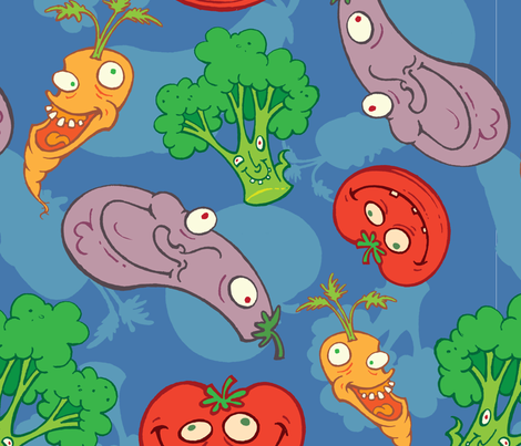 Vegetable Time! fabric by lotecki_ca on Spoonflower - custom fabric