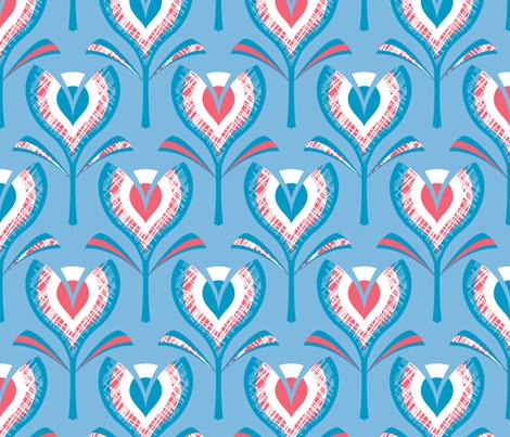 tulip MOD-MCM mash-up! fabric by coggon_(roz_robinson) on Spoonflower - custom fabric