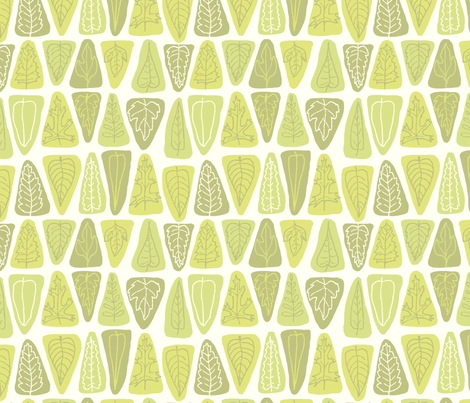 Triangle Leaves Muted fabric by vinpauld on Spoonflower - custom fabric