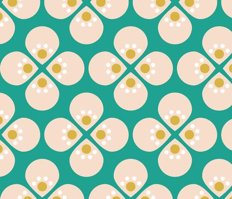 modcherryteal fabric by mrshervi on Spoonflower - custom fabric