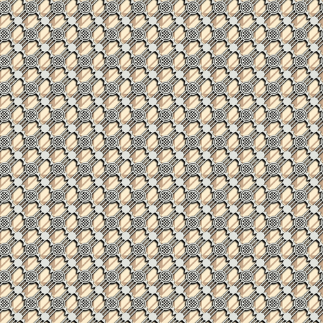 barbed wire netting 3d - muted fabric by glimmericks on Spoonflower - custom fabric