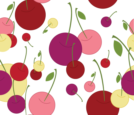 Berry Affair {cherryberry} fabric by printablegirl on Spoonflower - custom fabric