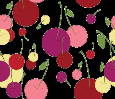 Berry Affair {cherryberry} fabric by printablegirl on Spoonflower - custom fabric