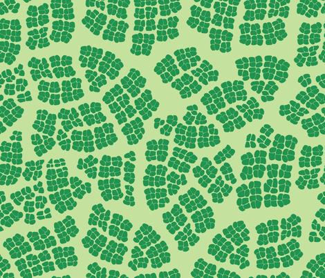 Mod_Leaf_Cells fabric by relk on Spoonflower - custom fabric