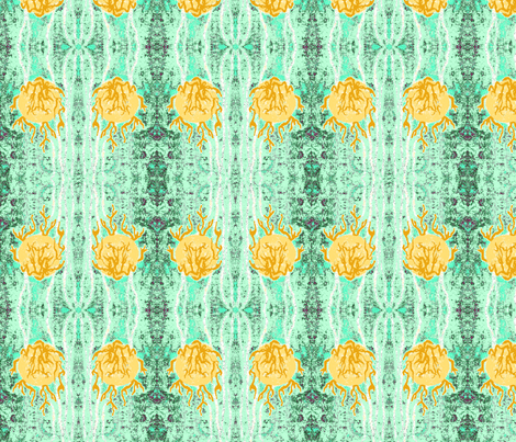 Golden Ball Pond Ripples fabric by walkwithmagistudio on Spoonflower - custom fabric