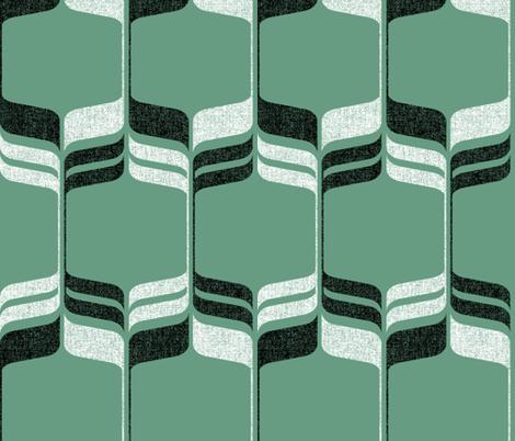 Mint Mod Ogee fabric by amelia_allen on Spoonflower - custom fabric