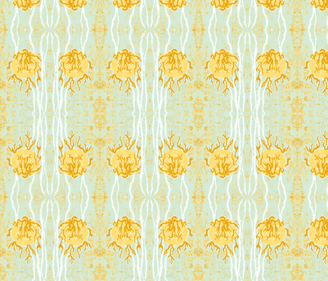 Flaming High Ball - Mod mellow times with Franky (lime twist) fabric by walkwithmagistudio on Spoonflower - custom fabric