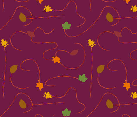 Scattering Leaves fabric by halfaringcircus on Spoonflower - custom fabric