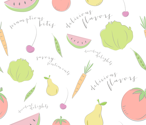 Farmers Market {mix bag} fabric by printablegirl on Spoonflower - custom fabric