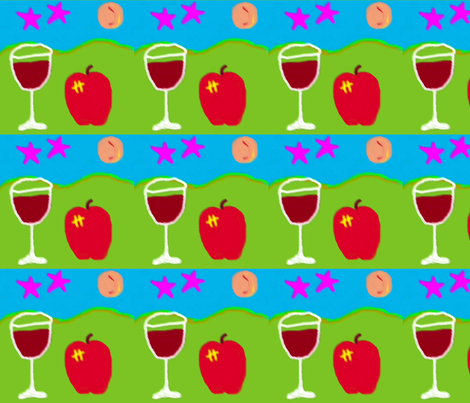 still_life_with_apple fabric by hezzie on Spoonflower - custom fabric