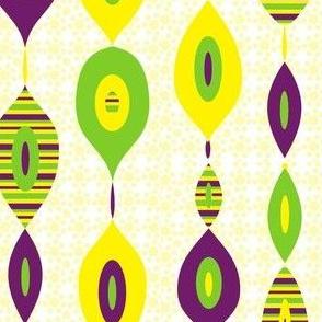 Mod Links on Daisy Bed: Lime, Eggplant & Dandelion