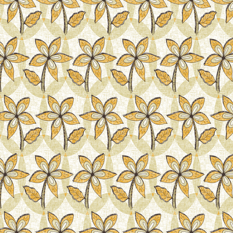 Golden Blooms Melody fabric by rhondadesigns on Spoonflower - custom fabric