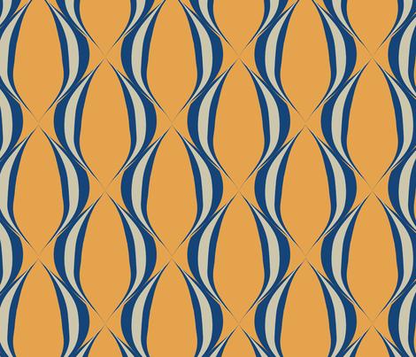 Blue mod fabric by mayacoa on Spoonflower - custom fabric