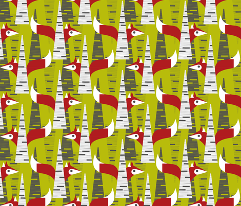 Mod Fox fabric by cjldesigns on Spoonflower - custom fabric