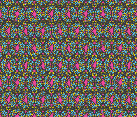 Flowers & Roos (Rotated) fabric by robyriker on Spoonflower - custom fabric