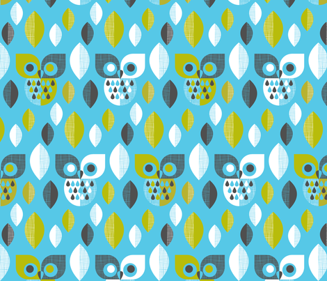 Mod owls fabric by cjldesigns on Spoonflower - custom fabric