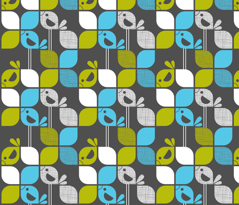Mod birds fabric by cjldesigns on Spoonflower - custom fabric