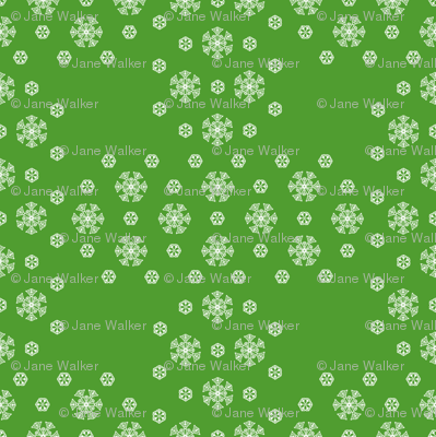 Green Snowflake Weave  ©2013 by Jane Walker