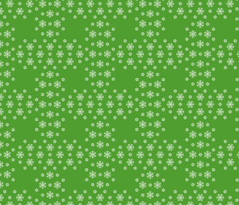 Green Snowflake Weave  ©2013 by Jane Walker fabric by artbyjanewalker on Spoonflower - custom fabric