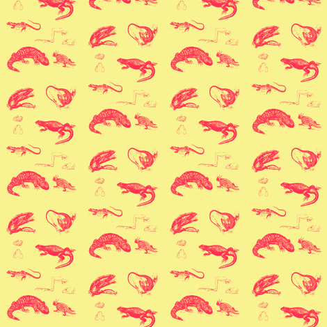 Iguanas de Provence fabric by amyvail on Spoonflower - custom fabric