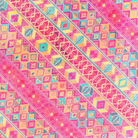 summer sunned diamond fabric by scrummy on Spoonflower - custom fabric