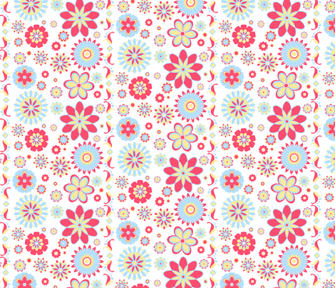 Mod Flower Paper fabric by countrygarden on Spoonflower - custom fabric
