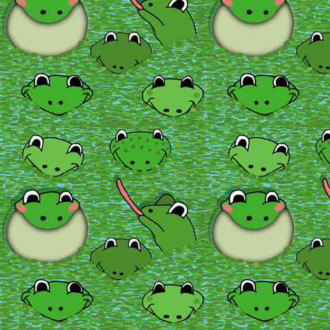 Frogs fabric by alexsan on Spoonflower - custom fabric