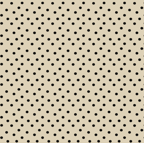 Black Dots on Cream Cappuccino (smaller version) fabric by bohobear on Spoonflower - custom fabric