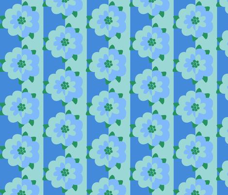 mod_flower_wallpaper_1_light_flower_on_dark fabric by victorialasher on Spoonflower - custom fabric