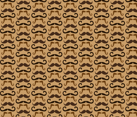 Mustaches -brown fabric by miss_motley on Spoonflower - custom fabric