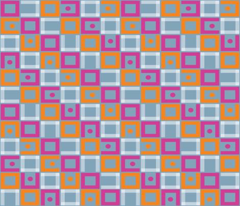 Mod Pink_Orange fabric by madex on Spoonflower - custom fabric